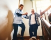 caregiver assisiting senior woman